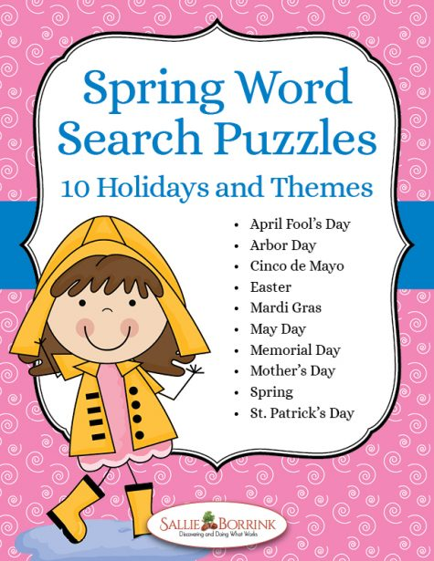 Spring Word Search Puzzles