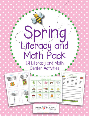 Spring Literacy and Math Pack