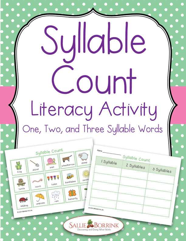 Syllable Count Literacy Activity