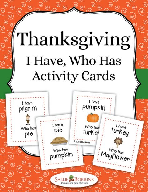 Thanksgiving I Have Who Has Activity Cards