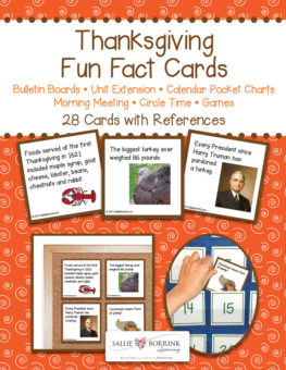 Thanksgiving Pocket Fact Cards