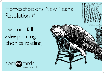 Homeschooler's New Year's Resolution #1 - See the full list at SallieBorrink.com