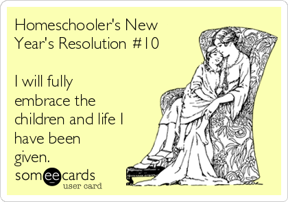 Homeschooler's New Year's Resolution #10 - See the full list at SallieBorrink.com