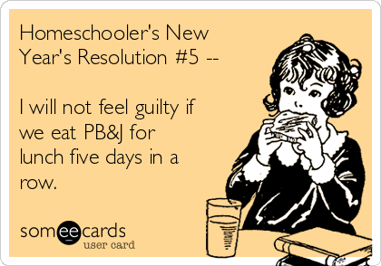 Homeschooler's New Year's Resolution #5 - See the full list at SallieBorrink.com