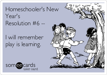 Homeschooler's New Year's Resolution #6 - See the full list at SallieBorrink.com
