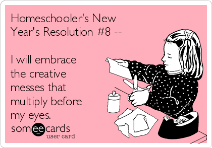 Homeschooler's New Year's Resolution #8 - See the full list at SallieBorrink.com