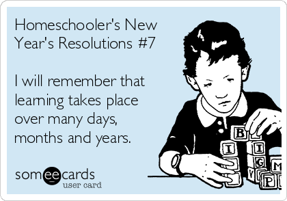 Homeschooler's New Year's Resolution #7 - See the full list at SallieBorrink.com