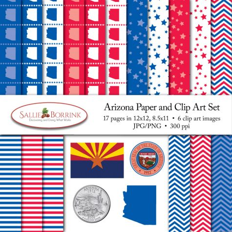 Arizona Paper and Clip Art Set