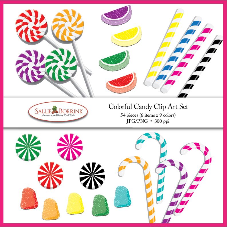 Colorful Candy Clip Art Set