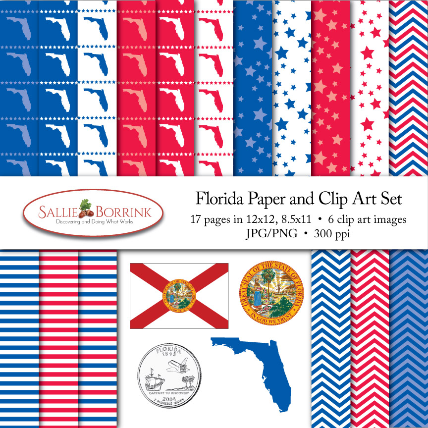 Florida Paper and Clip Art Set