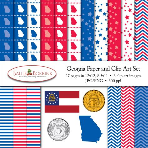 Georgia Paper and Clip Art Set