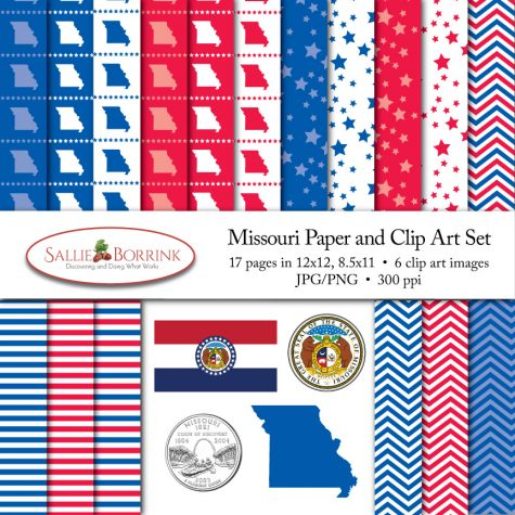 Missouri Paper and Clip Art Set