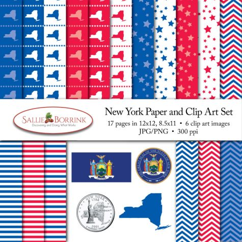 New York Paper and Clip Art Set