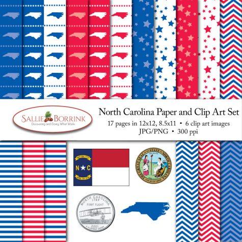 North Carolina Paper and Clip Art Set
