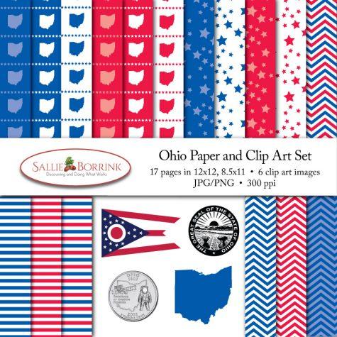 Ohio Paper and Clip Art Set