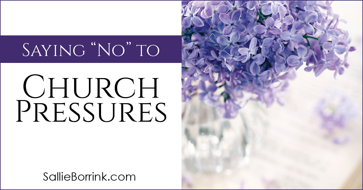 Saying No To Church Pressures 2