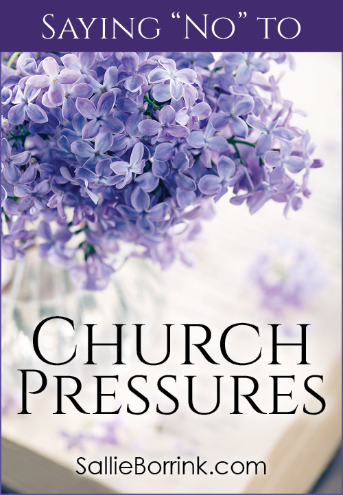 Saying No To Church Pressures