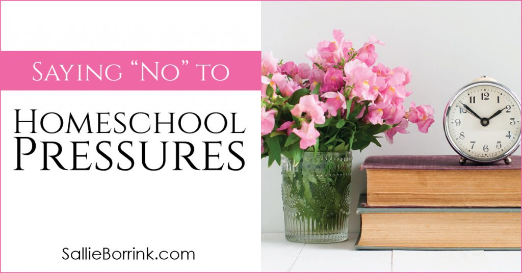 Saying No To Homeschool Pressures 2