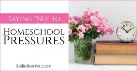 Saying No To Homeschool Pressures 2