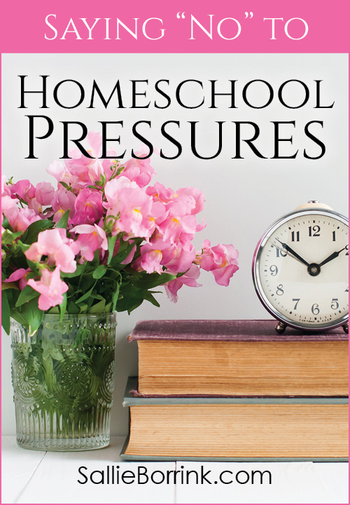 Saying No To Homeschool Pressures