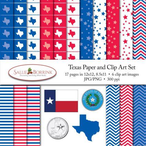 Texas Paper and Clip Art Set