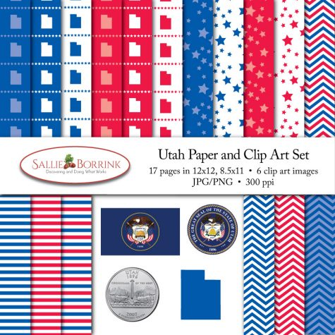 Utah Paper and Clip Art Set