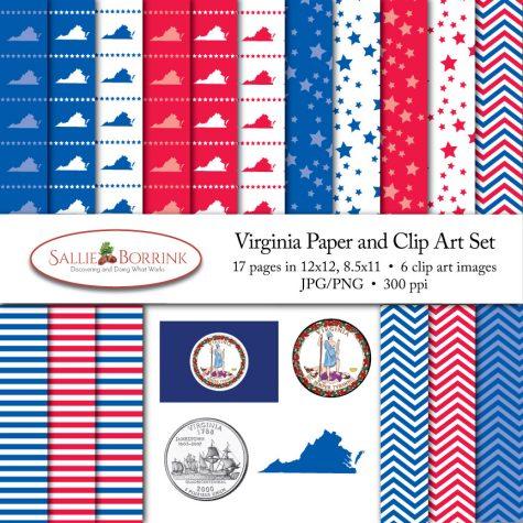 Virginia Paper and Clip Art Set