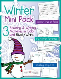 Winter Reading and Writing Activities Mini Pack 1