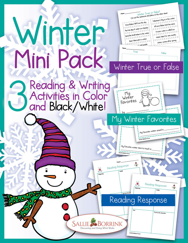 Winter Reading and Writing Mini Pack