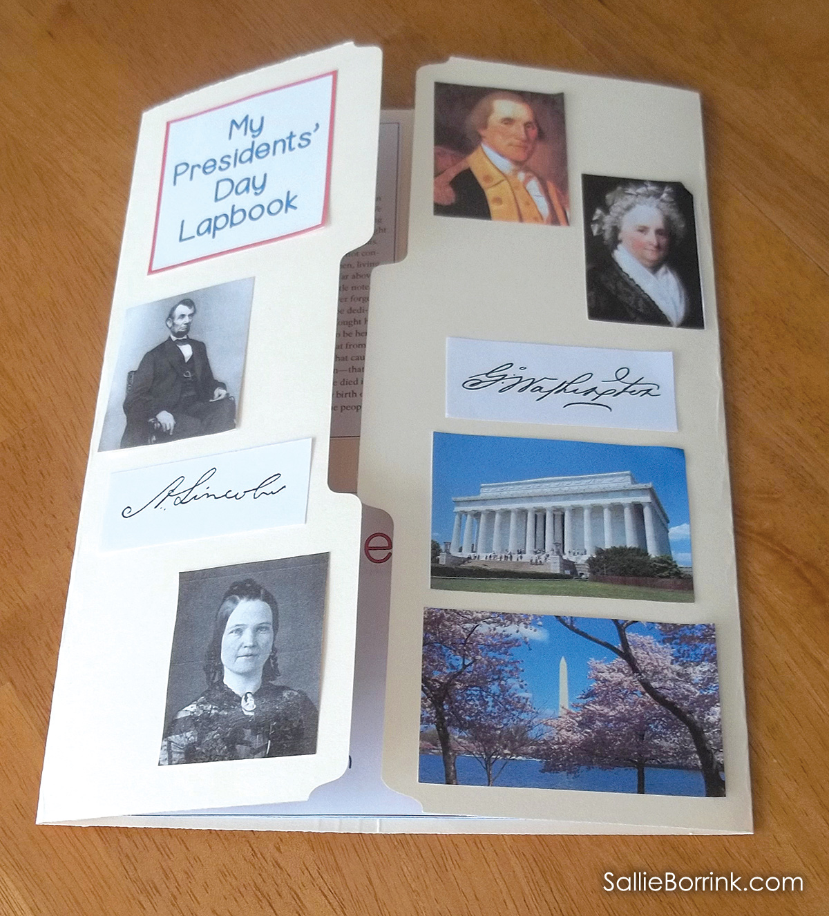 Presidents Day Lapbook 1