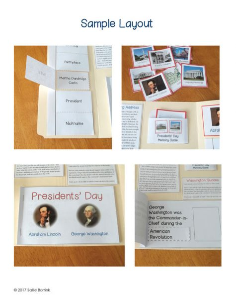 Presidents Day Lapbook 2