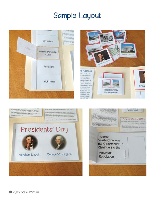 Presidents Day Lapbook PREVIEW 4