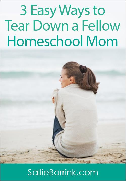 3 Easy Ways to Tear Down a Fellow Homeschool Mom
