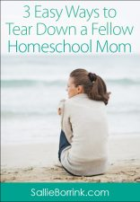 3 Easy Ways to Tear Down a Fellow Homeschool Mom