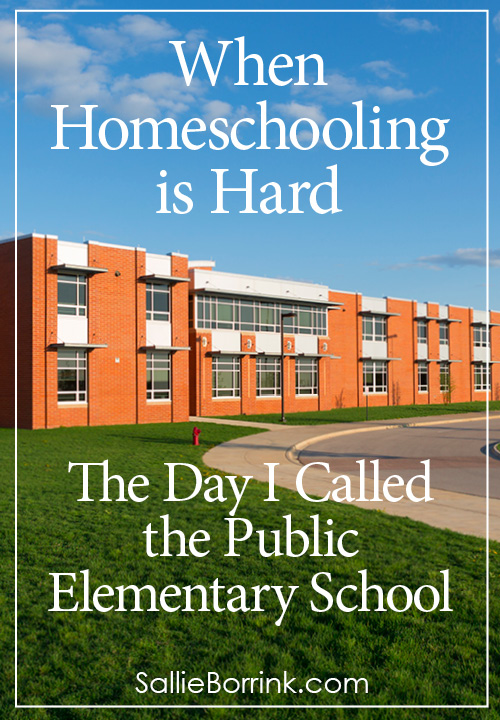 When Homeschooling is Hard - The Day I Called the Public Elementary School