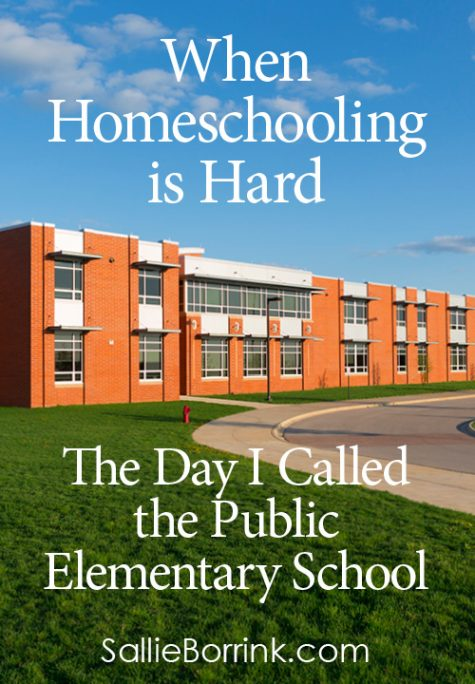 The Day I Called the Public Elementary School – When Homeschooling is Hard