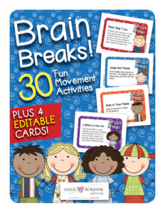 Brain Breaks Fun Movement Activities with Editable Cards