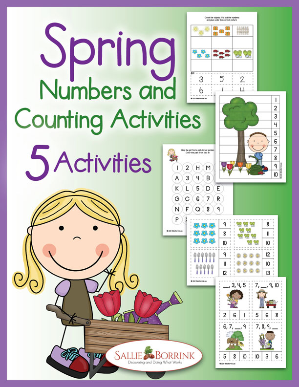 Spring Numbers and Counting Activities 1-20