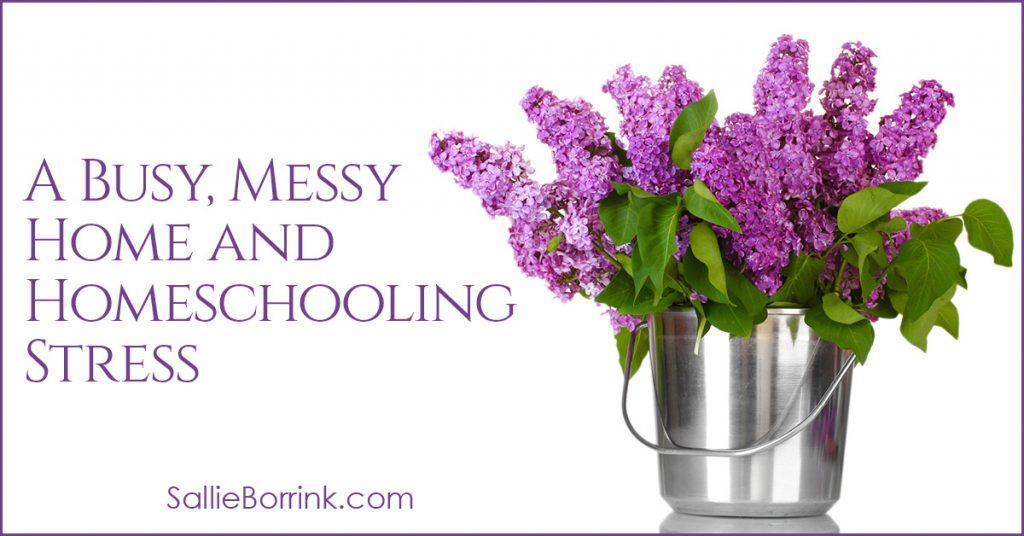 A Busy, Messy Home and Homeschooling Stress