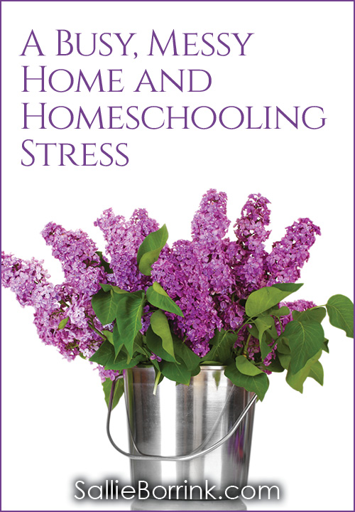 A Busy, Messy House and Homeschooling Stress