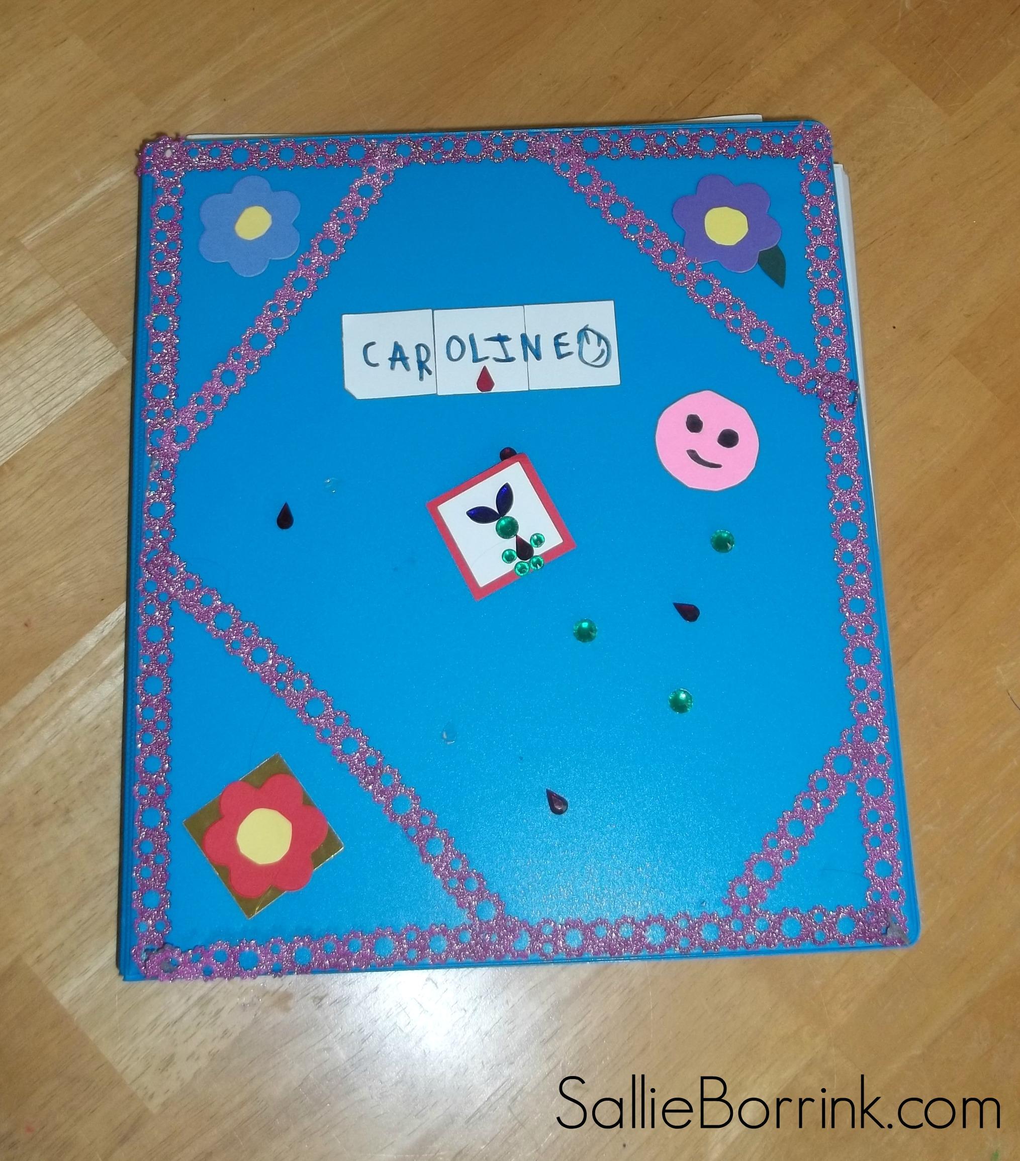 Caroline notebook cover