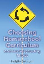 Choosing Homeschool Curriculum and Homeschooling Stress