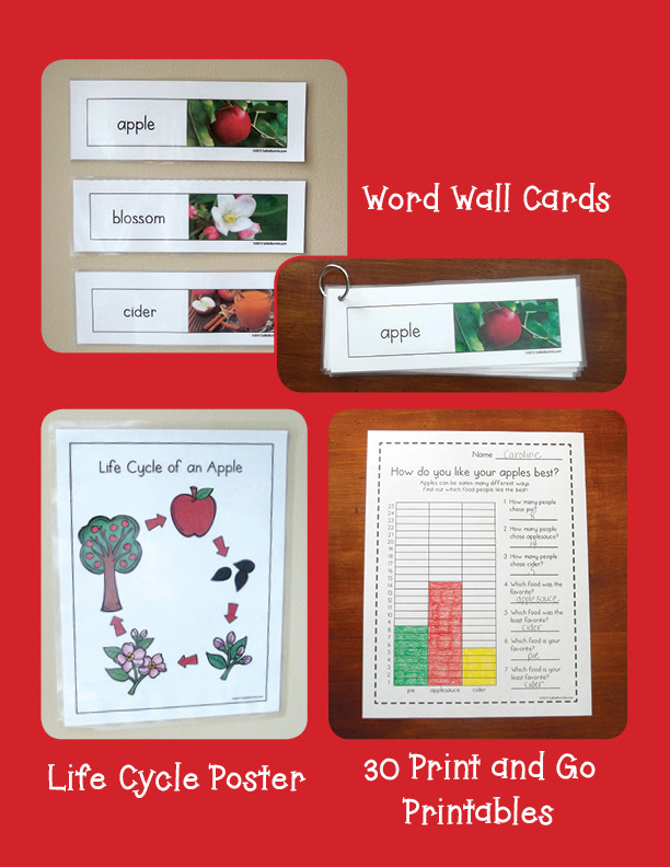 Apples Unit with Craftivity 3