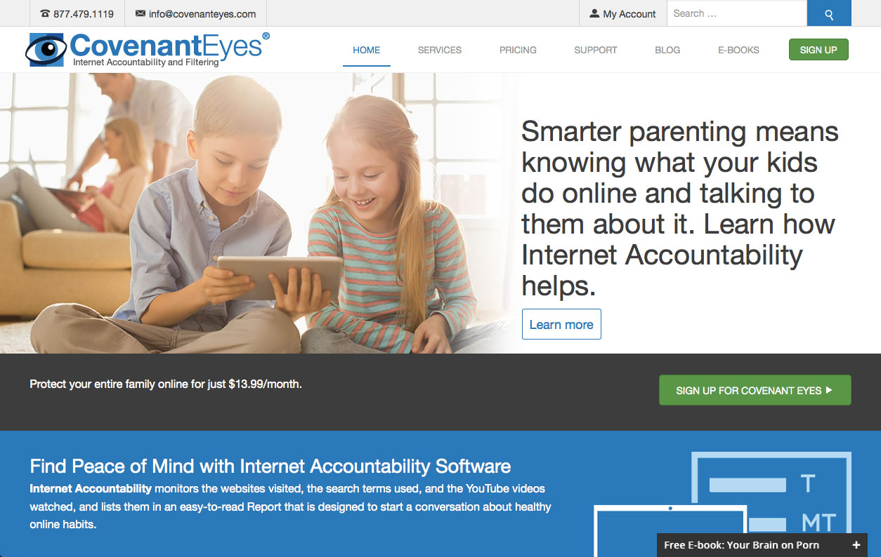 Covenant Eyes Web Site