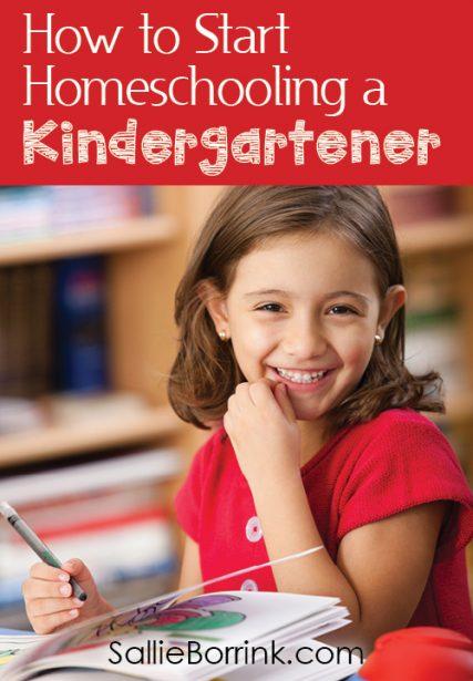 How to Start Homeschooling a Kindergartener