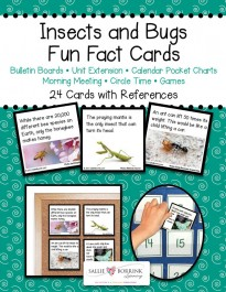 Insects and Bugs Fact Cards