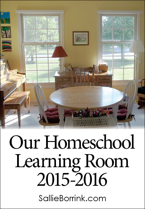 Our Homeschool Learning Room 2015-2016