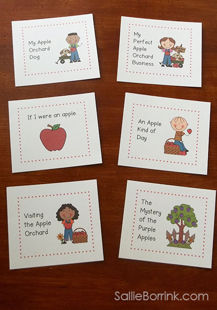Apple Writing Prompts and Papers Cards