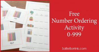Free Number Ordering Activity 0-999 2