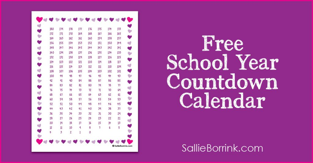 photograph regarding Countdown Calendar Printable named Cost-free College 12 months Countdown Calendar Printable - A Tranquil
